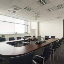 Empty conference hall in a modern office interior